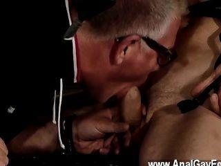 गर्म समलैंगिक दृश्य के लिए मज़ा दोगुना